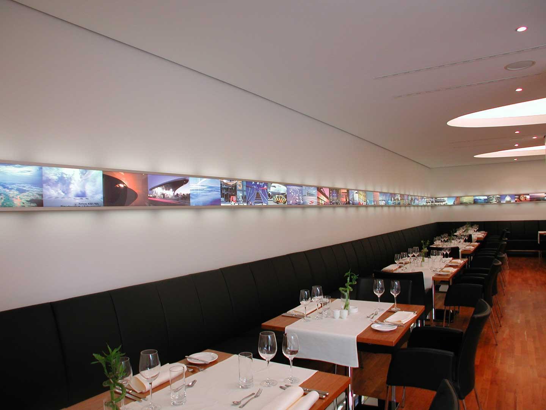 Galeriebild / Lufthansa Basis Hamburg Sonderleuchte Vorstandsrestaurant