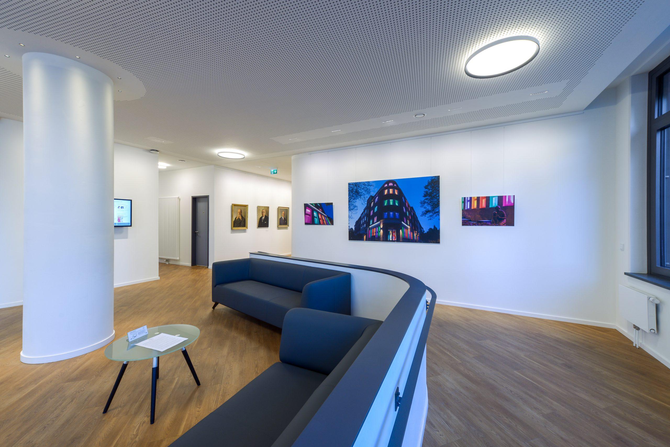 Galeriebild / Beleuchtung des Neubaus der Wohnungsbaugesellschaft Altoba